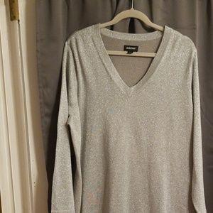 Avenue silver sparkly threaded shirt  22/24